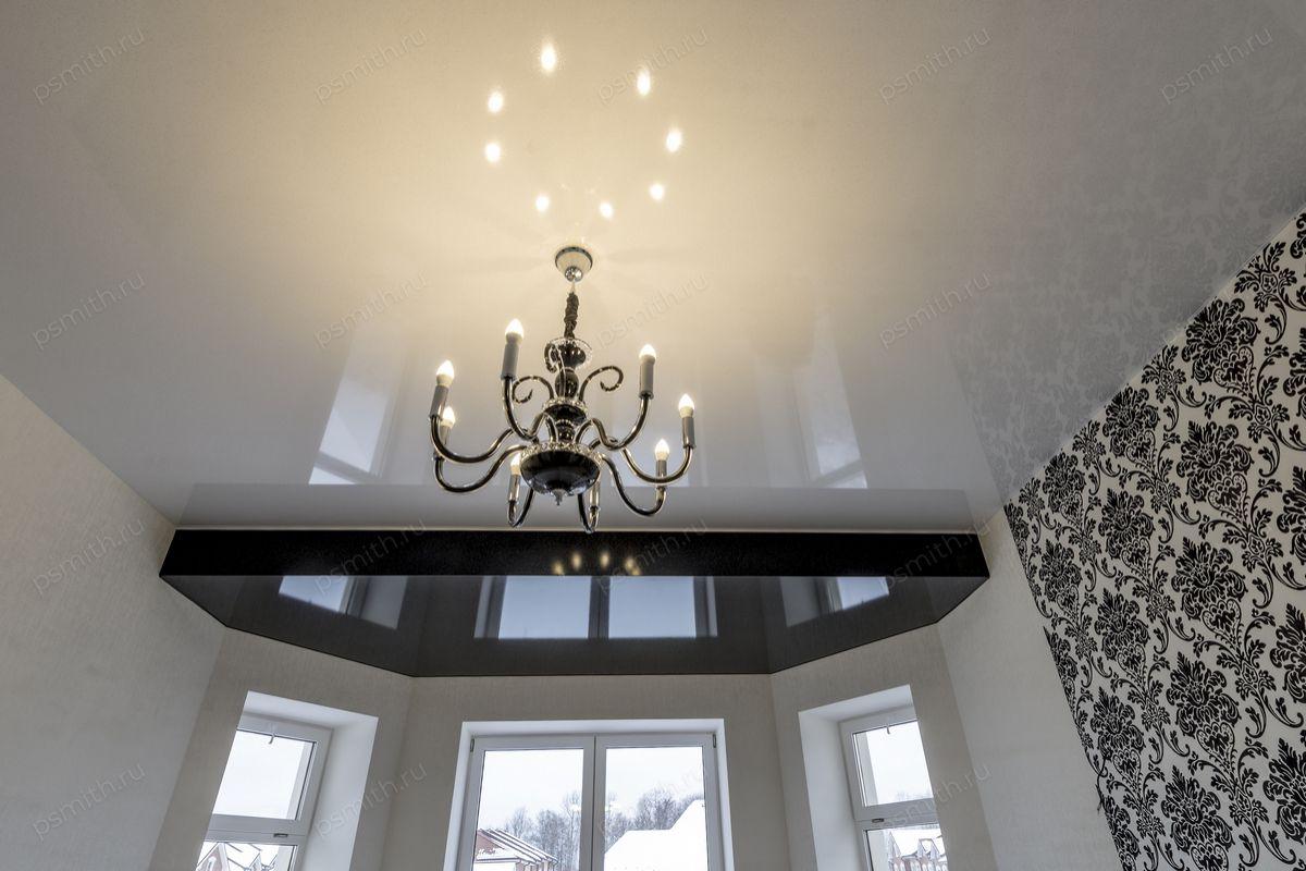 фото инструкция фото натяжного глянцевого потолка с люстрой позвольте паре