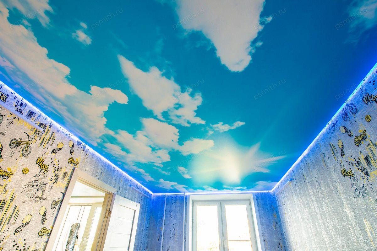 обеих команд натяжные потолки фотопечать облака это